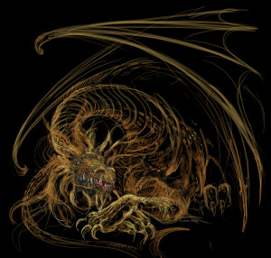 This awesome dragon drawing was donated by the amazing Lynette Yencho. http://www.lynettestudio.com/